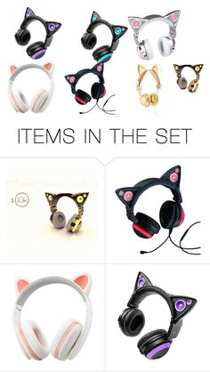"""Cat Ears Headphones"" by xxsacredwolfxx on Polyvore featuring art and like OMG! get some yourself some pawtastic adorable cat apparel!"