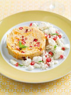 Couscous met feta, granaatappel en munt