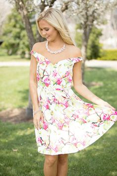 Singing Of My Love Floral Dress - The Pink Lily