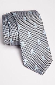 Posh.     Eton Skull Print Silk Tie.
