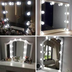 Dressing Mirror Module 20 Led Lights Professional Molding Women Cosmetic Makeup Vanity Led White Lights For Stage Performance Aesthetic Appearance Led Lamps
