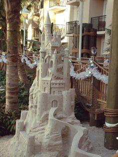 Sand Castle, Santa Cruz, California  photo via ebaum