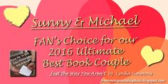 CONGRATS TO SUNNY, MICHAEL, & Lynda Simmons, Author!! See our Congratulations Post here: http://frommetoyouvideophoto.blogspot.com/2016/02/2016-ultimate-best-book-couple.html #BookCouple #LyndaSimmons #JustTheWayYouArent #BluefootPress #2016 #BestBookCouple