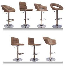 New BROWN TAUPE Faux Leather ABS Kitchen Breakfast Bar Stools Barstools  ChromeBuy Gemini Cream Leather Effect Bar Stool at Argos co uk   Your  . Kitchen Breakfast Bar Chairs. Home Design Ideas