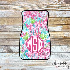 Monogrammed Lilly Pulitzer Inspired Car by ShopAdorableAccents