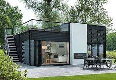Dream homes sLOVEnia - Real Estate Slovenia - www. Minimalist House Design, Small House Design, Minimalist Home, Modern House Design, Container Van House, Building A Container Home, Garden Container, Shipping Container Homes, Shipping Container Buildings