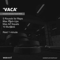 Crossfit Workouts At Home, Wod Workout, Street Workout, Fit Board Workouts, Vacation Workout, Pregnant Crossfit, Air Squats, Burpees, Gym Quote
