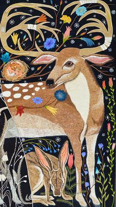 Untitled - by Chris Roberts-Antieau fabric applique