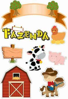 Farm Animal Cakes, Farm Animal Party, Farm Party, Farm Crafts, Diy And Crafts, Crafts For Kids, Paper Crafts, Farm Cake, Farm Birthday