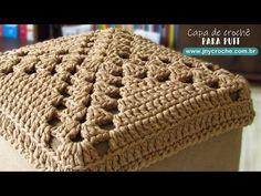 Capa para puff de crochê | qualquer tamanho - JNY Crochê - YouTube