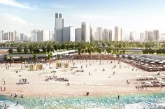 Abu Dhabi Corniche Beach, Abu Dhabi, UAE - Martha Schwartz Partners