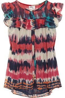 Lots of color but cute! I'd put it with a white skirt & a pair of heels that match the teal blue color. =)