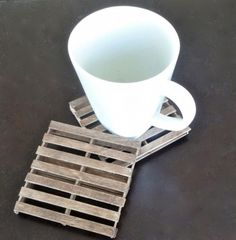 Of course first I would whittle popsicle sticks out of old pallets and THEN I would make them into tiny pallet coasters.