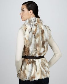 Belted Fur Vest by 525 America at Neiman Marcus.