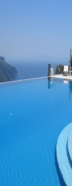Breathtaking view from an infinity pool in Ravello, Italy