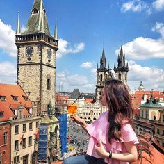 Prague restaurant with a perfect view? ❤️ Of course, Terrace U Prince @terasauprince  I'm glad to be here in every season and to recommend it for my friends ????  Save the location ✅ Address: Staroměstské nám. 29, 110 00 Praha 1-Staré Město ???? @terasaup