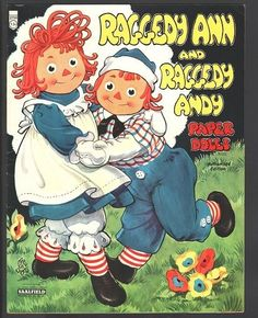 RAGGEDY ANN AND RAGGEDY ANDY PAPER DOLLS 1957 UNCUT ORIGINAL BOOK