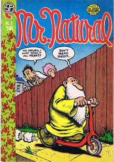 Natural No. 2 by Robert Crumb - First Printing - 1971 - from Third Mind Books (SKU: Robert Crumb, Underground Comics, Caricatures, Comic Book Characters, Comic Books, Comic Book Companies, Fritz The Cat, Bd Comics, Collage