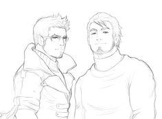 TLOK - Mako and Bolin?: legend of korra, sketch
