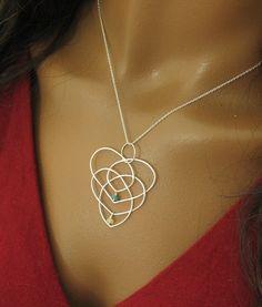 Motherhood Knot pick your birthstones Celtic by IndulgentDesigns, $42.00