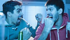 Friends Watching Sport On TV
