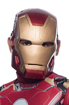 Avengers 2 Age of Ultron Child's Mark 43 Iron Man Molded 1/2 Mask -- Click image to review more details.