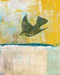 "Lucky 13, 8x10"" on canvas board"