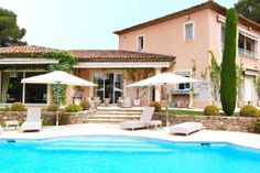 Lovely Neo-Florentin Style Villa In An Estate Near The Golf Courses In Mougins (MD2615503) -  #House for Sale in Cannes, Provence-Alpes-Cote d'Azur, France - #Cannes, #ProvenceAlpesCotedAzur, #France. More Properties on www.mondinion.com. International Real Estate, Cannes, Provence, Golf Courses, Aqua, Villa, France, Mansions, House Styles