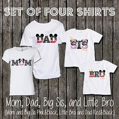 Set of 4 Mickey and Minnie Themed Disney Vacation Shirts - Free Personalization - 68.00 - we ship worldwide