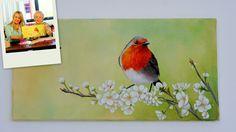 Como pintar en acrilico - Pajaros y Flores - Mabel Blanco