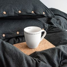 Pillowcase made from very soft jersey in graphite mélange colour. The natural fabric allows the skin to breathe and bed linen is as pleasant to the touch as your beloved t-shirt. Cotton Bedding, Linen Bedding, Couple Bed, Graphite, Duvet Covers, Pillow Cases, Cushion, Linen Sheets, Graffiti
