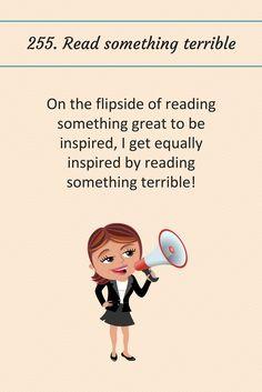 255: Read something terrible.
