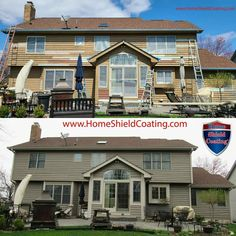 Home Shield Coating® is a premier permanent coating system that was designed as a money saving alternative to repainting or staining the exterior of both residential and commercial properties. Home Shield, Seamless Gutters, Energy Efficient Windows, Cedar Homes, Cedar Siding, Exterior Remodel, Next At Home, Window Sill