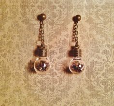SOLD OUT - Steampunk Lightbulb Earrings with Authentic Watch by PHUNKYPARADOX