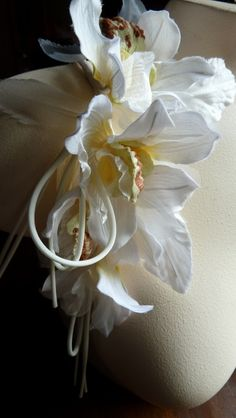 Orchid Silk Flowers Millinery Cymbidium Orchids for Bridal, Hats, Sashes, Floral Supply, Costume Design