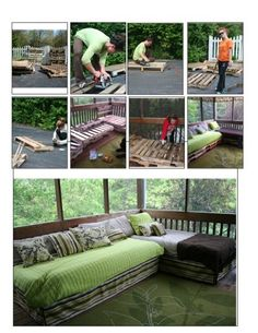 Pallet Daybed Sectional | Do It Yourself Home Projects