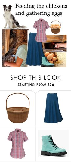 """""""Feeding the chickens and gathering eggs"""" by monaruth ❤ liked on Polyvore featuring Tommy Hilfiger and feeding the chickens and gathering eggs"""