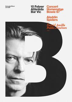 David Bowie tribute concert on Behance 사람을 캣치프레이즈로 하면어때