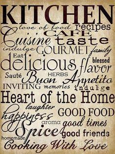 Simple Speak Kitchen - Grace Pullen on Fine Art America