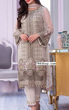 Online Indian and Pakistani dresses, Buy Pakistani shalwar kameez dresses and indian clothing. Chiffon Shirt, Chiffon Fabric, Chester White, Fashion Pants, Fashion Dresses, Hot Suit, Add Sleeves, Shalwar Kameez, Pakistani Dresses