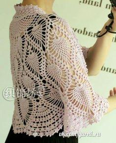 Crochet bolero — Crochet by Yana Crochet Wool, Crochet Tunic, Crochet Clothes, Black Crochet Dress, Lace Patterns, Easy Crochet Patterns, Crochet Designs, Crochet Ideas, Crochet Bolero Pattern