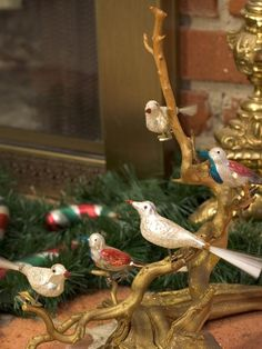 The next time you're at the flea market, do a little bird watching for Old World, clip-on bird ornaments.