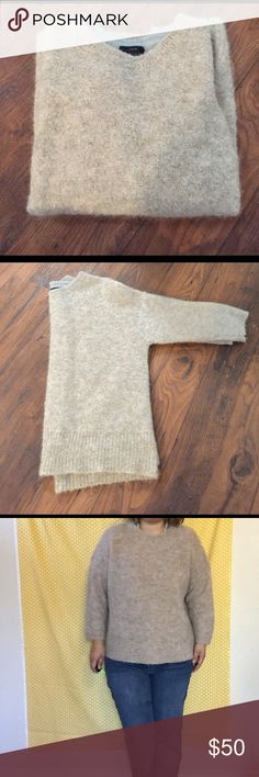 J.Crew Alpaca Blend Sweater Sweater: 81% alpaca 19% nylon. inner neck trim: 100% merino wool. In perfect condition. Fluffy soft warm sweater. Such a comfortable sweater! You'll never want to take it off. J. Crew Sweaters Crew & Scoop Necks