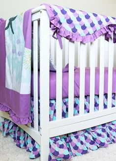 Mermaid Baby Room Crib set Mermaid Minky bedding set on Etsy (affiliate link) Girl Crib Bedding Sets, Girl Cribs, Nursery Crib, Crib Sets, Baby Nursery Decor, Little Mermaid Nursery, Baby Mermaid, Patchwork Blanket, Crib Blanket