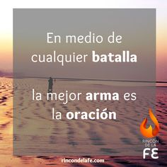 La mejor arma siempre es la #oración. Amén. #Dios #frases cristianas #cristo… Arma, Cristo, Signs, Home Decor, God First, Pictures Of God, Christians, Prayers, Messages
