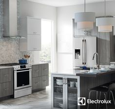 Upgrade your kitchen to dream status with the stylish, stainless steel look of Electrolux appliances such as the Front Control Freestanding Range and the French Door Refrigerator.