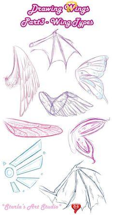 Types Wings ~ Starla's Art Studio-#Art #starla #Starlas #studio #types #wings -,  #Art #BodyArt #starla #Starlas #Studio #StudioArt #Types #Wings<br> Pencil Art Drawings, Art Drawings Sketches, Random Drawings, Body Sketches, Drawing Lessons, Drawing Tips, Drawing Ideas, Anime Drawing Tutorials, Sketching Tips