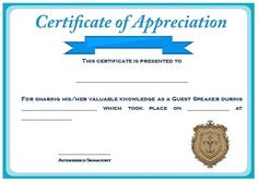 The sojourn of my life example of certificate of appreciation for sample certification of appreciation for guest speaker 2 yadclub Images