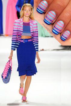 Donna Karan.... Love the dress and the nails!