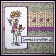 Celebrate female birthday card by juju cards